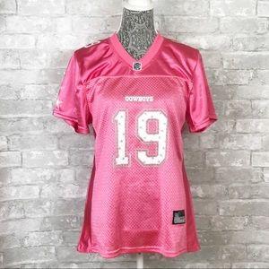 NWT REEBOK NFL Cowboys Austin 19 Pink Jersey Top